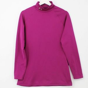 Under Armour Fitted Mock Neck Shirt Active Purple